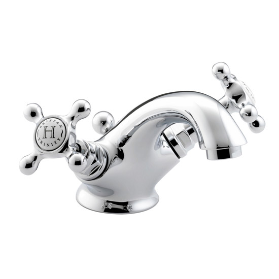 Bristan Trinity Traditional Basin Mixer Tap inc Pop-Up Waste - Chrome - TY-BAS-C Large Image