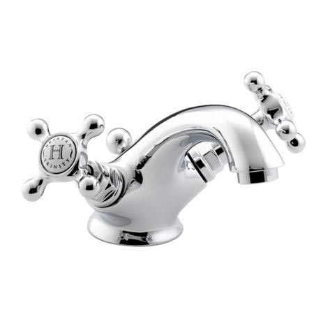 Bristan Trinity Traditional Basin Mixer Tap inc Pop-Up Waste - Chrome - TY-BAS-C