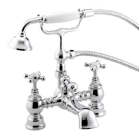 Bristan Trinity Traditional Bath Shower Mixer - Chrome - TY-BSM-C