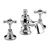 Bristan Trinity 2 Three Hole Basin Mixer with Pop-Up Waste Chrome - TY2-3HBAS-C profile small image view 1
