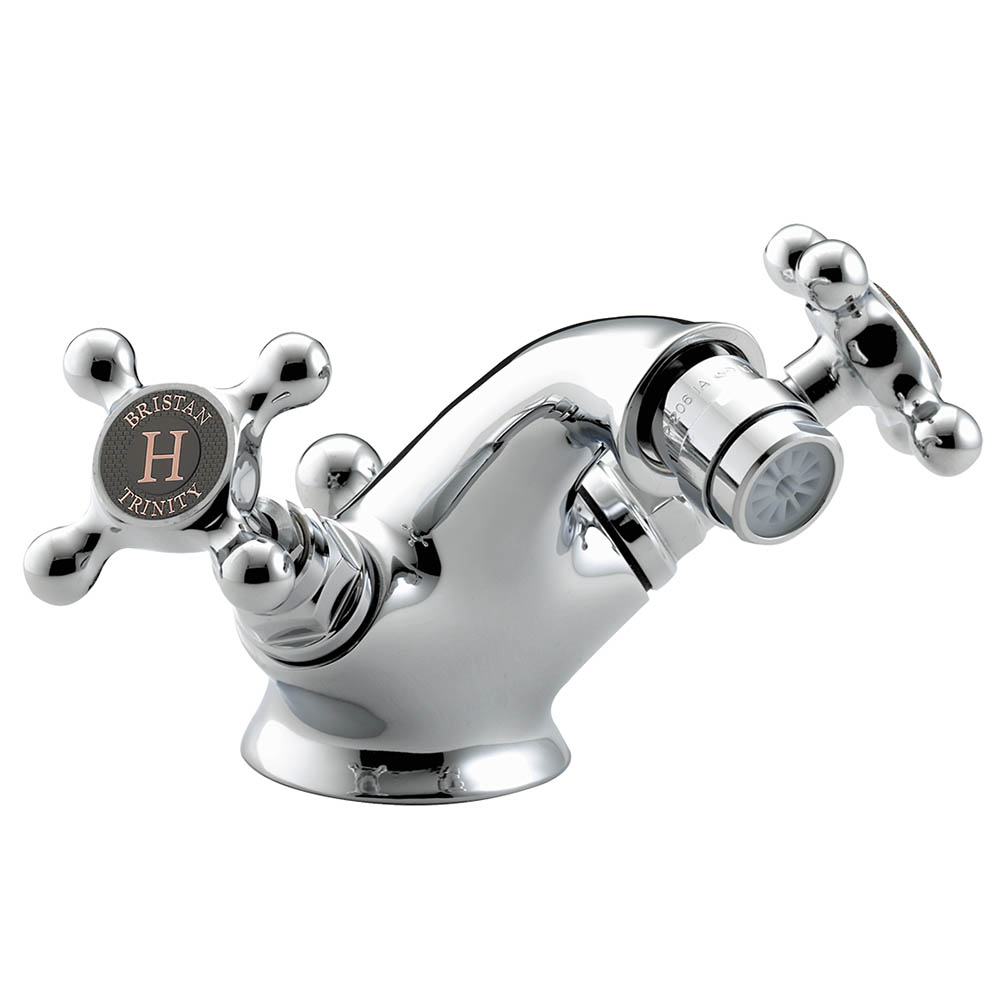 Bristan Trinity 2 Bidet Mixer with Pop-Up Waste Chrome - TY2-BID-C