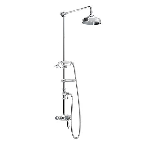 Bristan Trinity 2 Exposed Concentric Shower Valve with Diverter and Rigid Riser Kit Chrome - TY2-CSH