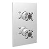Bristan Trinity 2 Recessed Thermostatic Dual Control Shower Valve with Diverter Chrome - TY2-SHCDIV-C profile small image view 1