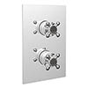 Bristan Trinity 2 Recessed Thermostatic Dual Control Shower Valve Chrome - TY2-SHCVO-C profile small image view 1