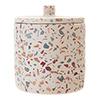 Turin Terrazzo-Effect Concrete Cotton Jar with Lid profile small image view 1