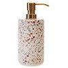 Turin Terrazzo-Effect Concrete Lotion/Soap Dispenser profile small image view 1