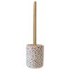 Turin Terrazzo-Effect Concrete Toilet Brush Holder profile small image view 1