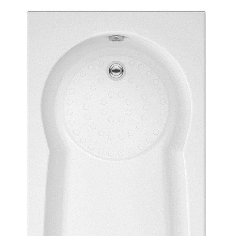 Taranto Textured Base Keyhole Shower Bath 1700x800  Profile Large Image
