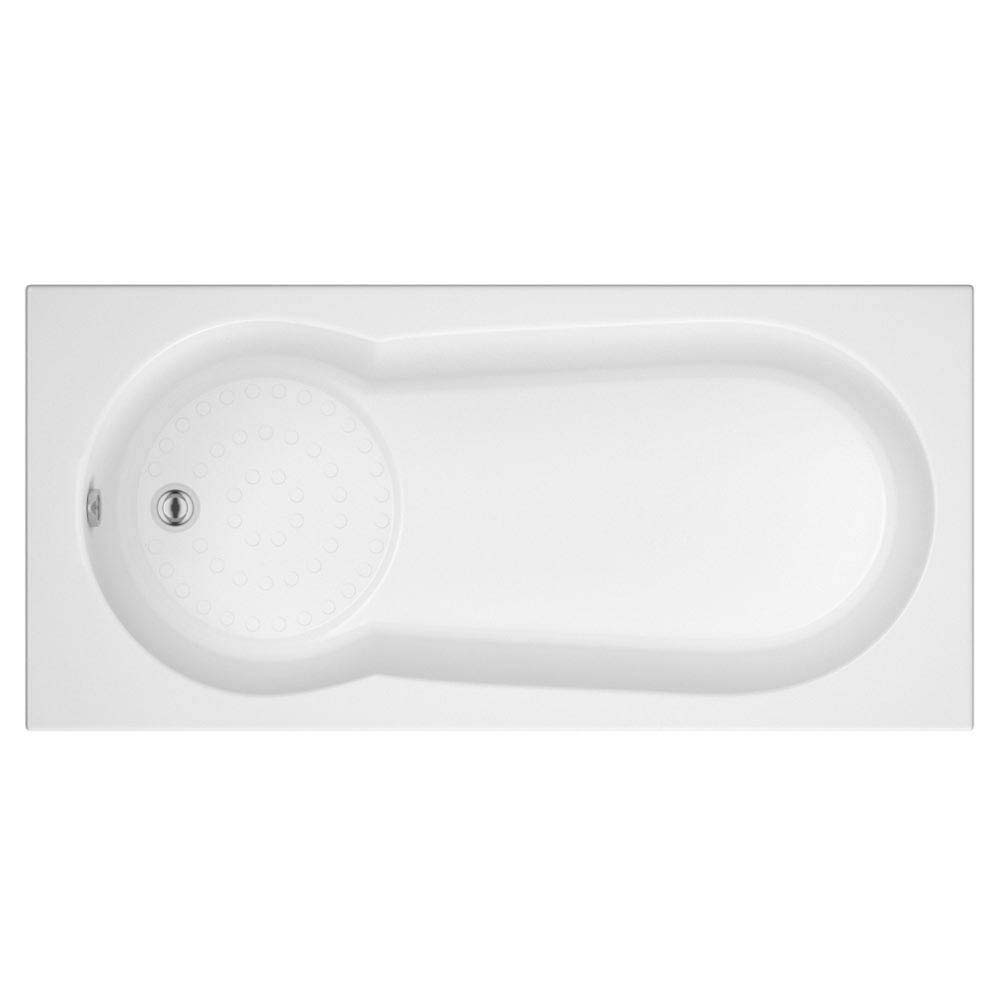 Taranto Textured Base Keyhole Shower Bath  1700x800 Large Image