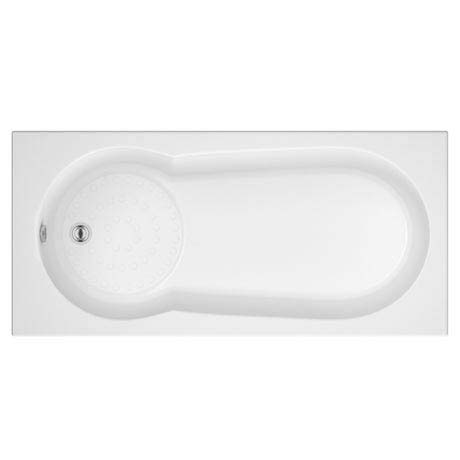 Taranto Textured Base Keyhole Shower Bath  1700x800