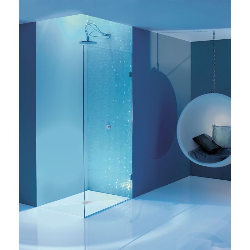 Simpsons - Ten Single Fixed Wetroom Panel - Various Size Options Feature Large Image