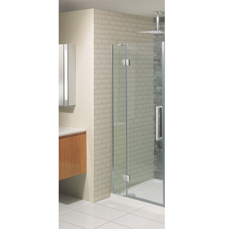 Simpsons - Ten Hinged Shower Door with Inline Panel - 5 Size Options Large Image