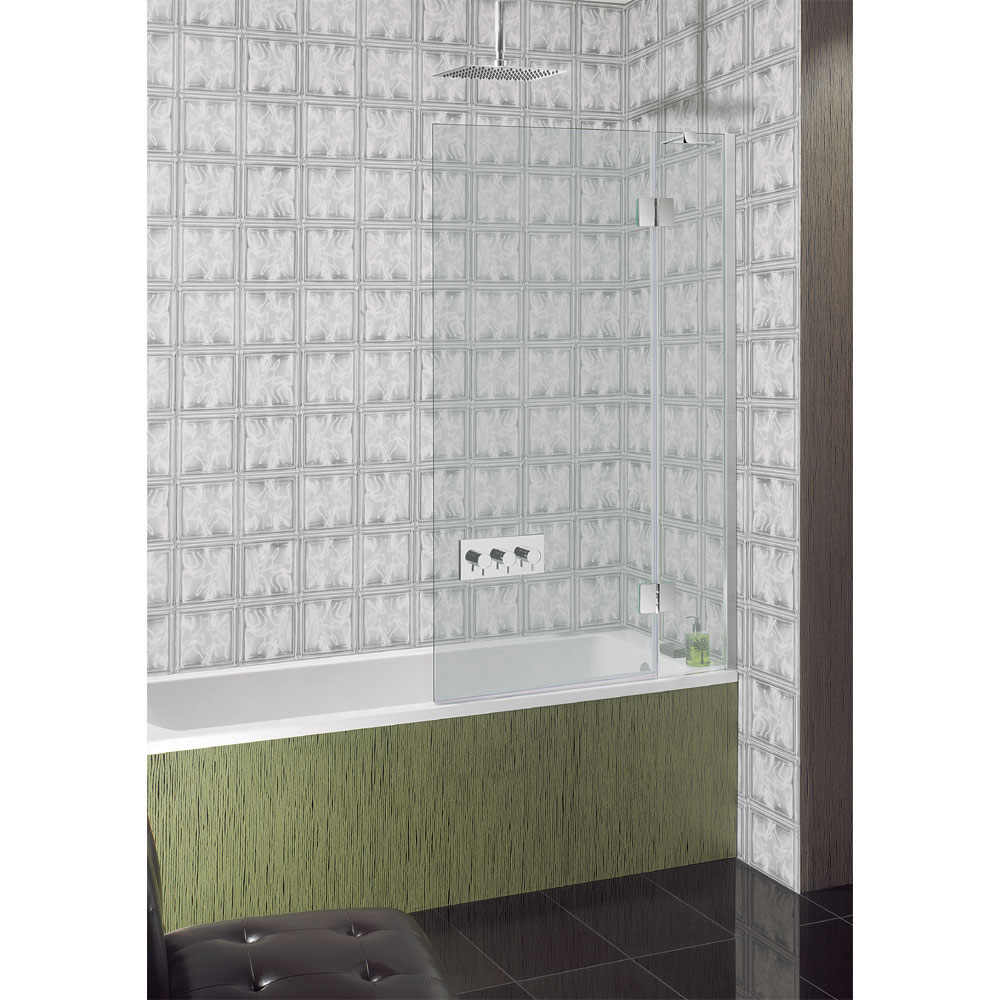 Simpsons - Ten Hinged Bath Screen with Fixed Panel - 900mm Large Image