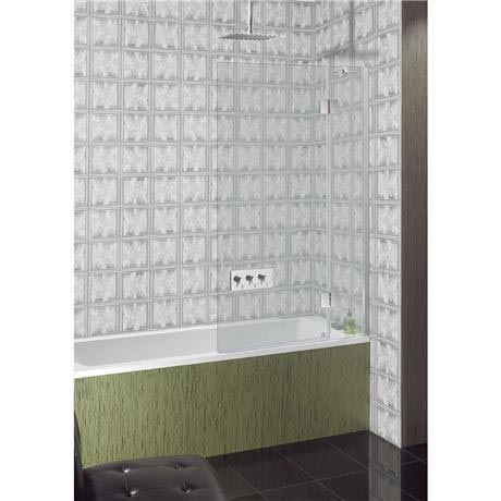 Simpsons - Ten Hinged Bath Screen with Fixed Panel - 900mm