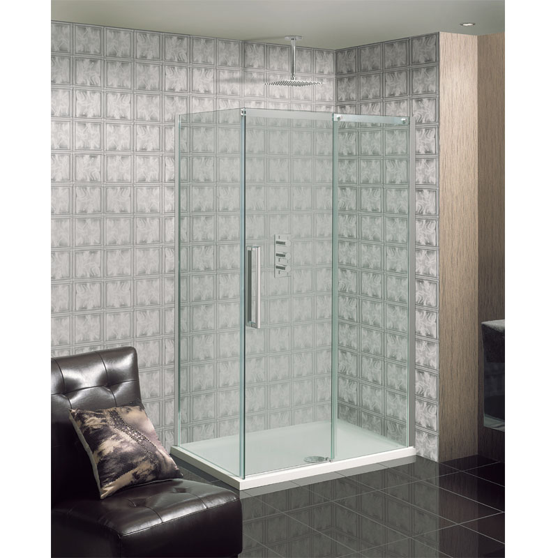 Simpsons - Ten Single Slider Shower Door - 4 Size Options profile large image view 3