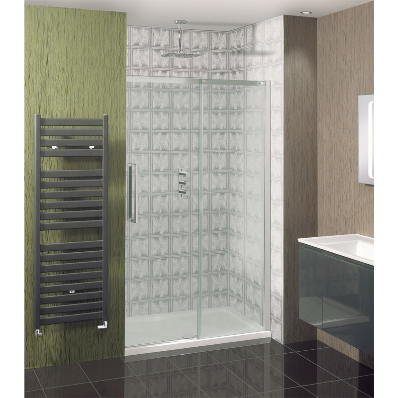 Simpsons - Ten Single Slider Shower Door - 4 Size Options profile large image view 1