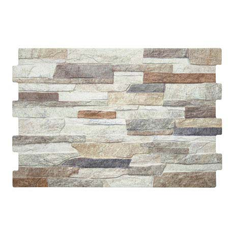 Textured Alps (Mixed) Stone Effect Wall Tiles - 34 x 50cm