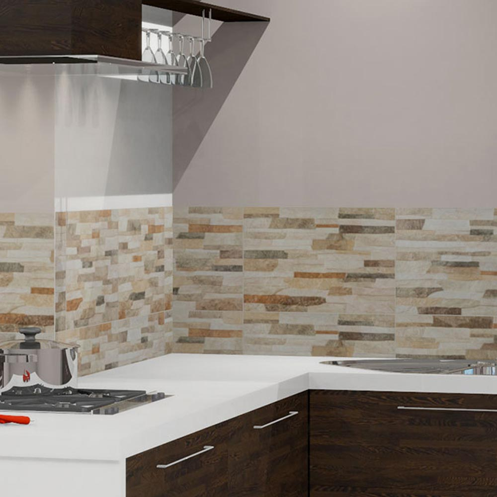 Textured Alps Stone Effect Wall Tiles - 34 x 50cm Profile Large Image