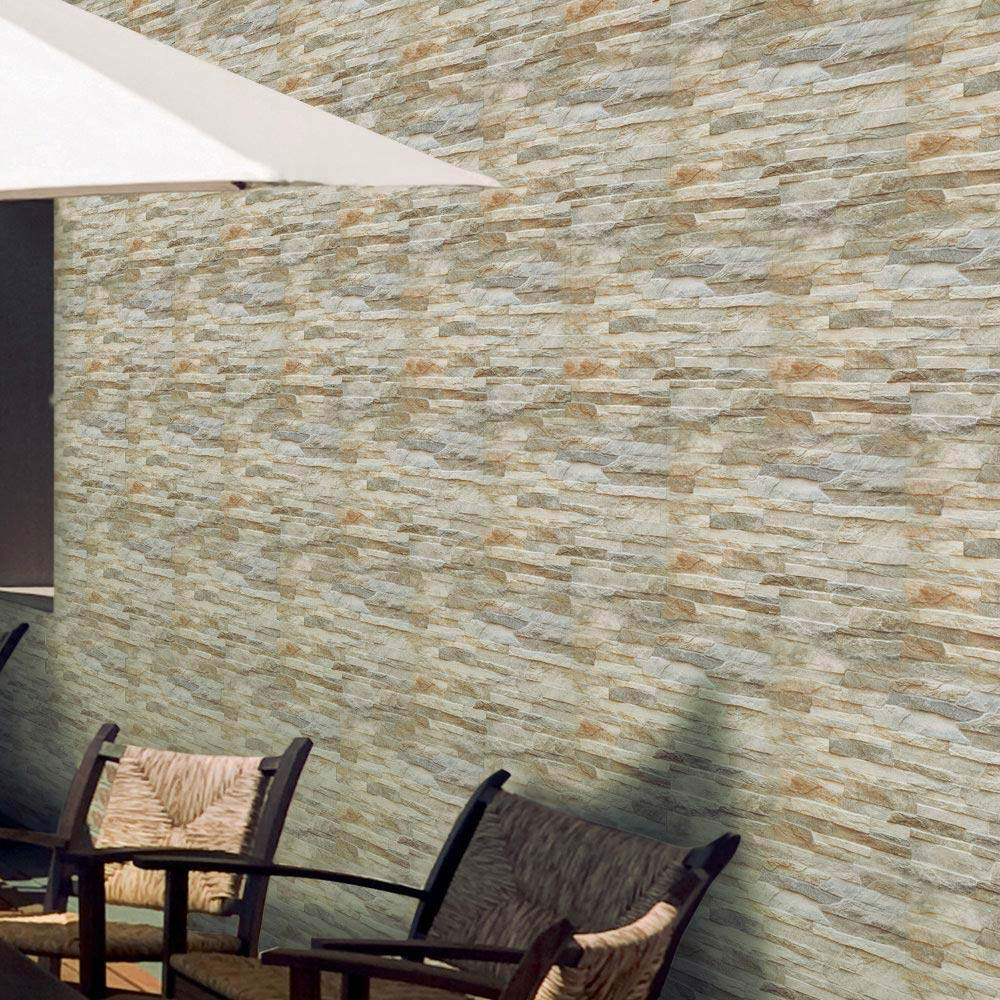 Textured Alps Stone Effect Wall Tiles - 34 x 50cm  In Bathroom Large Image