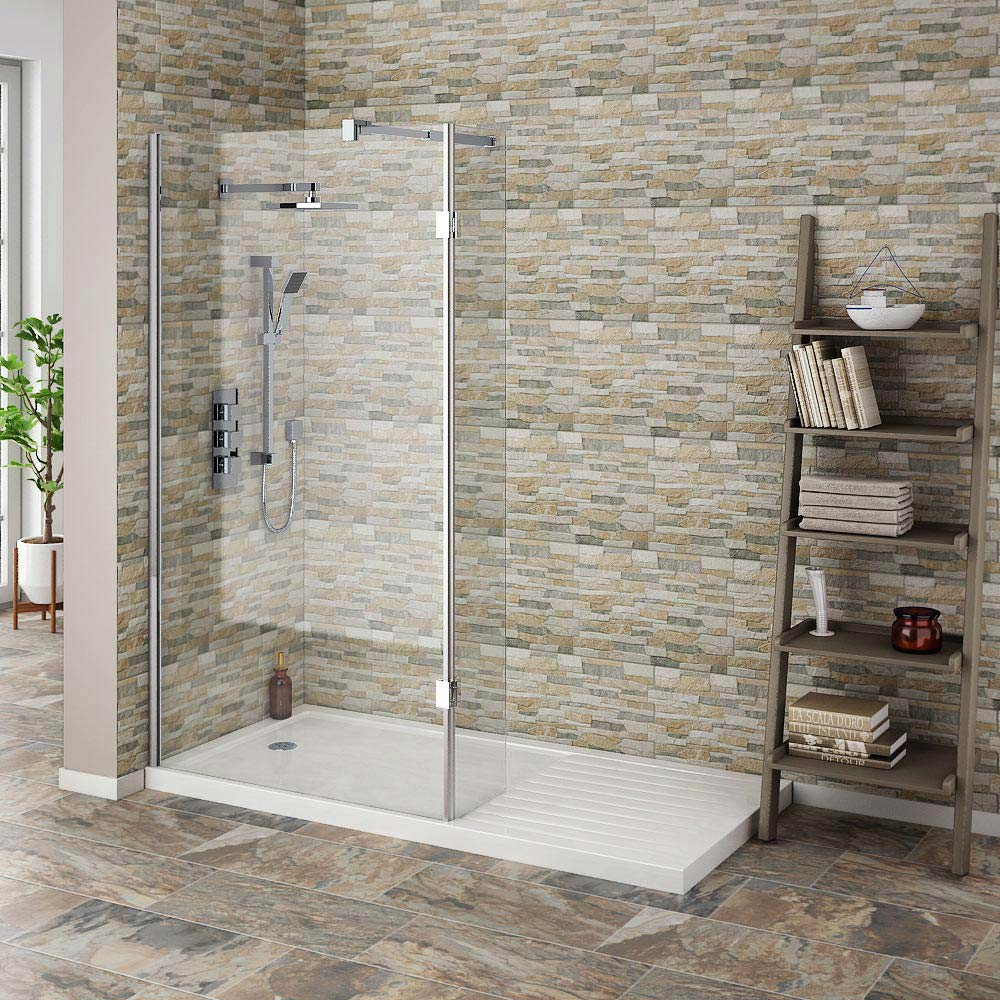 Textured Alps Stone Effect Wall Tiles - 34 x 50cm  Standard Large Image
