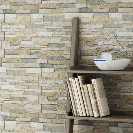 Textured Alps Stone Effect Wall Tiles - 34 x 50cm