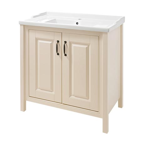 Thames Traditional Vanity Unit with Basin - Cream