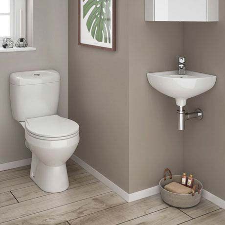 Tina Compact Cloakroom Suite inc Single Lever Basin Mixer