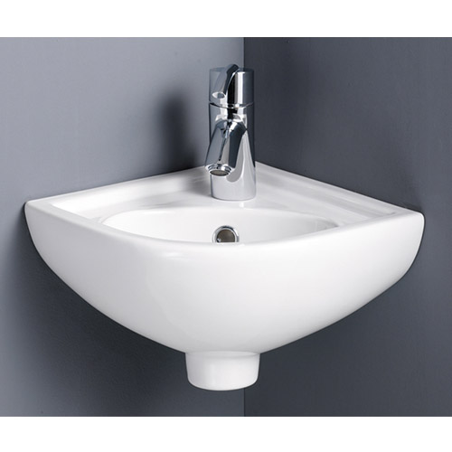 Tina Compact Cloakroom Suite inc Single Lever Basin Mixer Feature Large Image