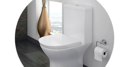 Bathroom with a close coupled toilet