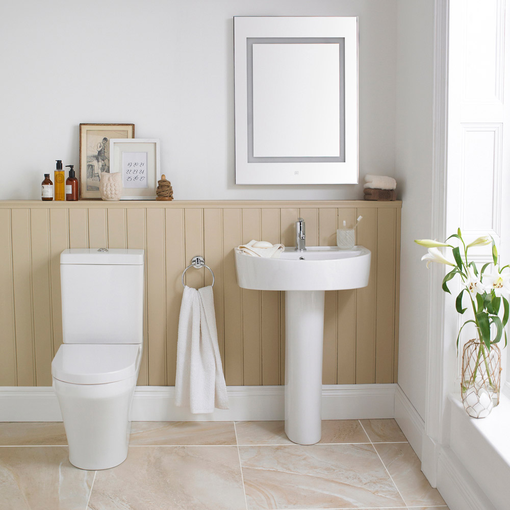 Toronto BTW Close Coupled Toilet with Soft-Close Seat Profile Large Image