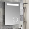 Toronto 500x700mm LED Mirror Inc. Magnifying, Anti-Fog Demist + Shaving Port profile small image view 1