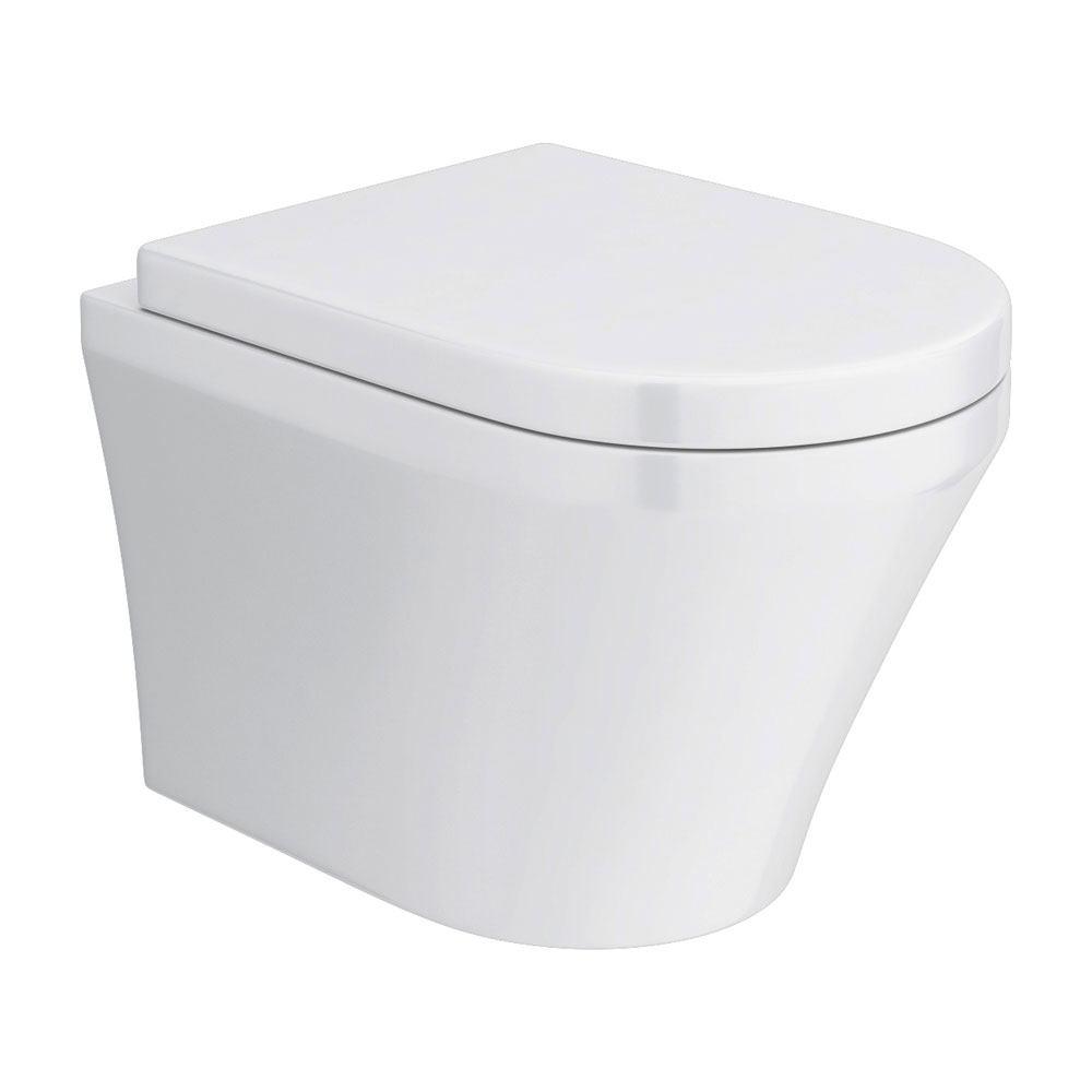 Toronto Modern Round Wall Hung Toilet Inc. Soft Close Seat Large Image