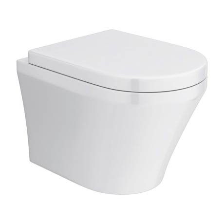 Toronto Modern Round Wall Hung Toilet Inc. Soft Close Seat