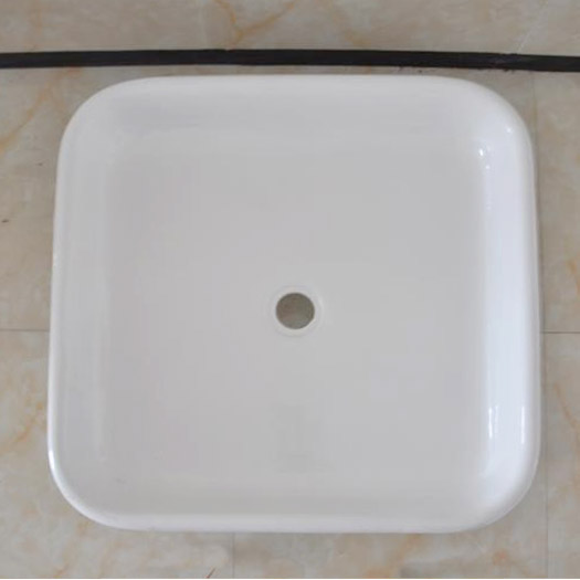 Traditional 1060mm Square Freestanding Cast Iron Shower Tray Inc. Ball + Claw Feet profile large image view 2