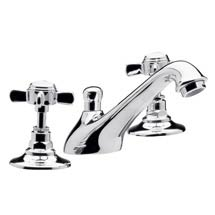 Traditional 3 Tap Hole Basin Mixer - Chrome - IJ327 Medium Image