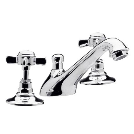 Traditional 3 Tap Hole Basin Mixer - Chrome - IJ327