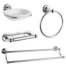 Traditional 4-Piece Bathroom Accessory Pack Medium Image