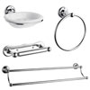 Traditional 4-Piece Bathroom Accessory Pack Small Image