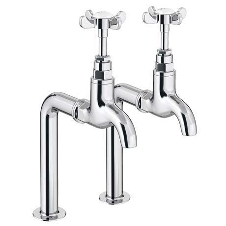 Traditional Basin Bib Taps + Upstands