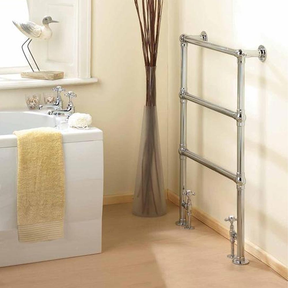 Hudson Reed Traditional Countess Heated Towel Rail - Chrome - HT301 profile large image view 2