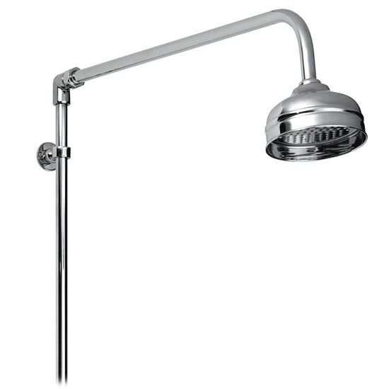 "Premier - Traditional Exposed Thermostatic Triple Shower Valve w Riser, 4"" Rose & Slide Rail Kit Feature Large Image"