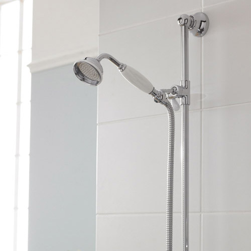 "Premier Traditional Exposed Thermostatic Triple Shower Valve Inc. Riser, 4"" Rose & Slide Rail Kit profile large image view 4"