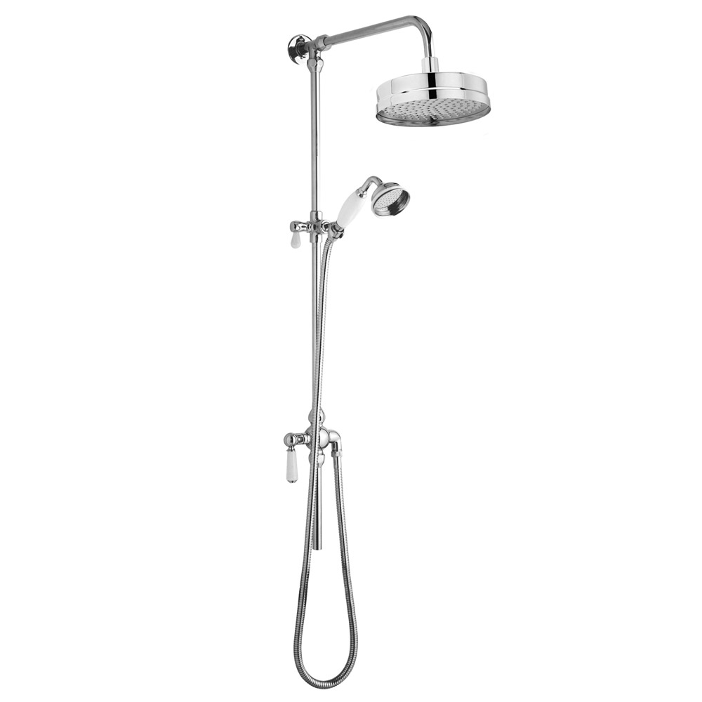 Premier Traditional Luxury Rigid Riser Kit with Diverter & Dual Exposed Shower Valve Profile Large Image