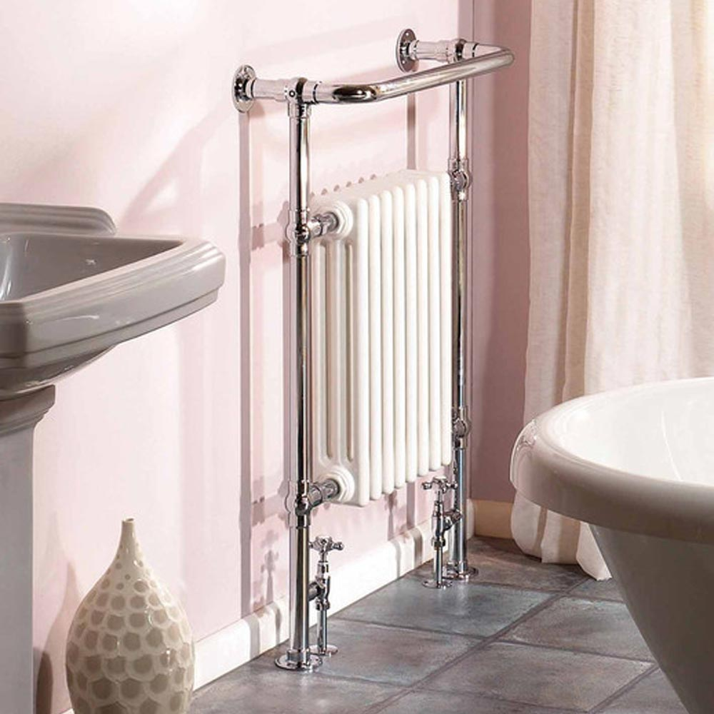 Hudson Reed Traditional Marquis Heated Towel Rail - Chrome - HT302 profile large image view 2