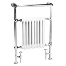 Hudson Reed Traditional Marquis Heated Towel Rail - Chrome - HT302 Medium Image