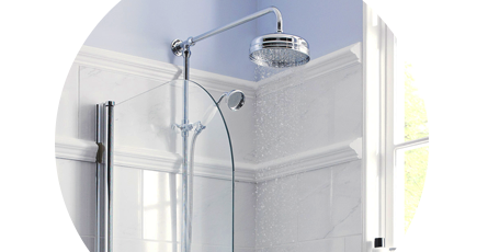 Traditional shower | Exposed shower | Victorian Plumbing