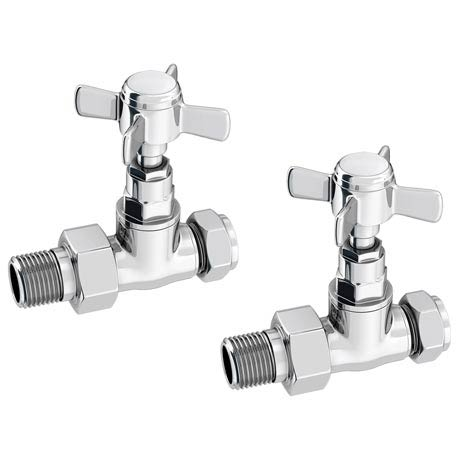 Traditional Straight Cross Head Radiator Valves