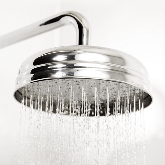 """Traditional Triple Concealed Shower Valve with Diverter, 8"""" Fixed Shower Head, 4 Body Jets & Slider profile large image view 4"""
