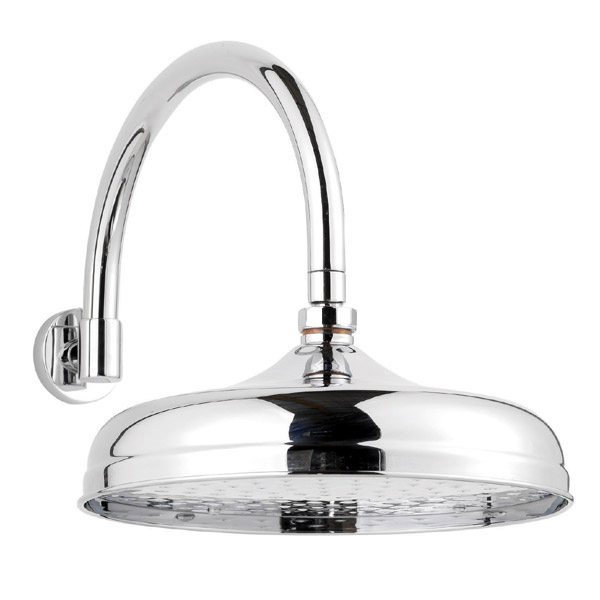 """Traditional Triple Concealed Valve with Diverter, 12"""" Shower Head, Curved Arm, 4 Body Jets & Slider profile large image view 3"""