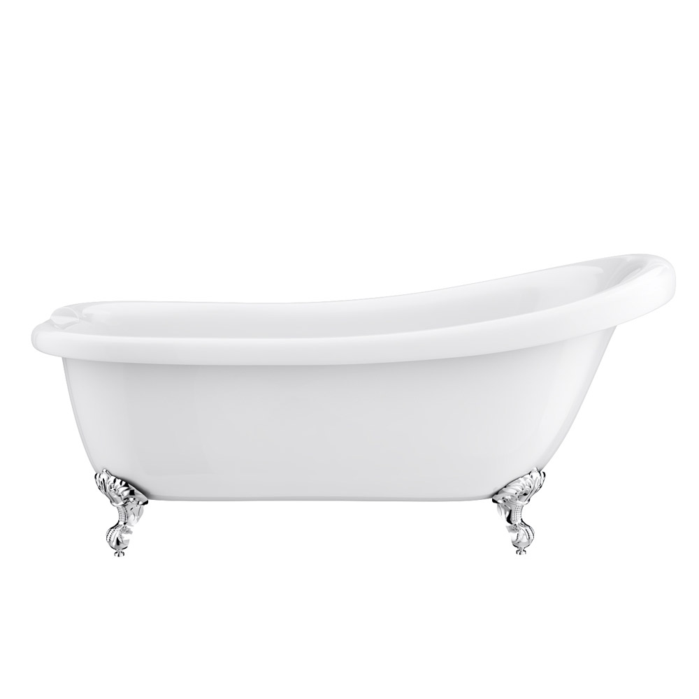 Trafalgar 1710 Roll Top Slipper Bath profile large image view 2